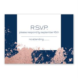 Style Splash - Rose Gold - Foil Response Card