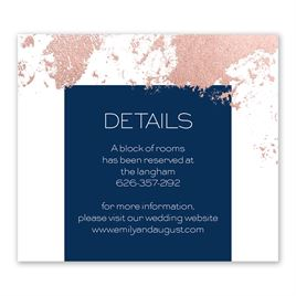 Style Splash - Rose Gold - Foil Information Card
