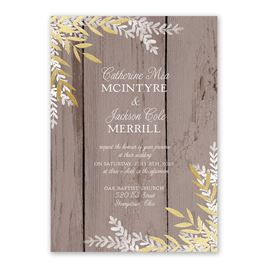 Shimmering Branches Foil Invitation
