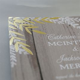 Shimmering Branches - Gold - Foil Invitation