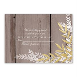 Wedding Response Cards: Shimmering Branches Foil Response Card