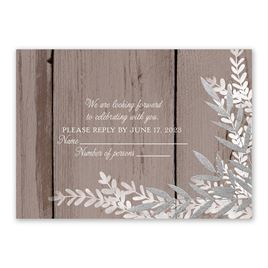 Shimmering Branches - Silver - Foil Response Card