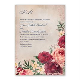 Floral Flourish - Rose Gold - Foil Invitation
