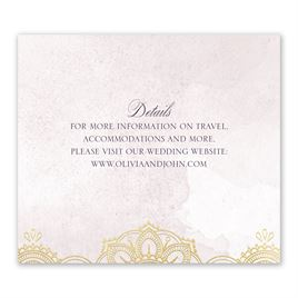 Mandala Bloom - Gold - Foil Information Card