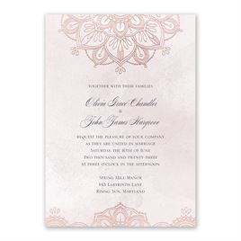 Mandala Bloom - Rose Gold - Foil Invitation