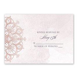 Mandala Bloom - Rose Gold - Foil Response Card