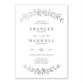 Sweet Surround - Silver - Foil Invitation