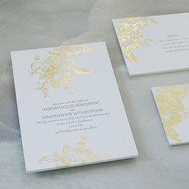 Gilded Garden - Gold - Foil Invitation