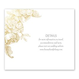 Wedding Reception Cards: Gilded Garden Foil Information Card