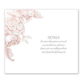 Gilded Garden - Rose Gold - Foil Information Card