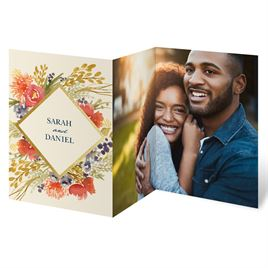 Autumn Foliage Trifold Invitation