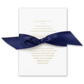 Navy Elegance - Gold - Foil Invitation
