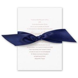 Navy Elegance - Rose Gold - Foil Invitation