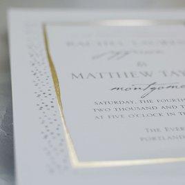 Modern Art - Gold - Foil Invitation