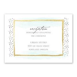 Wedding Reception Cards: Modern Art - Foil Reception Card