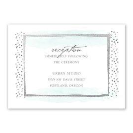 Modern Art - Silver - Foil Reception Card