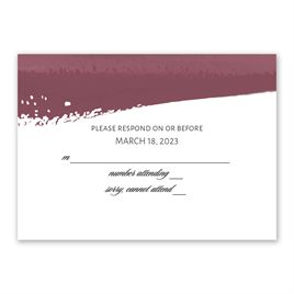 Brushstroke - Burgundy - Response Card
