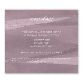 Wedding Reception Cards: Brushstroke - Information Card