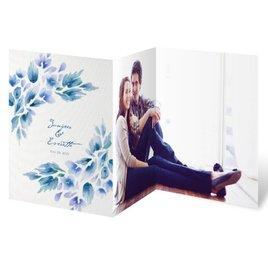 Watercolor Blooms - Aegean - Trifold Invitation