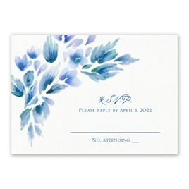 Watercolor Blooms - Aegean - Response Card
