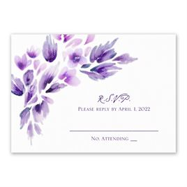 Watercolor Blooms - Violet - Response Card