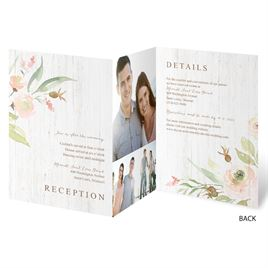 Fresh Floral - Trifold Invitation