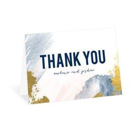 Modern Wash - Navy - Thank You Card