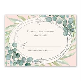 Glimmering Greenery - Silver - Foil Response Card