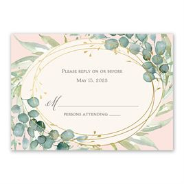 Wedding Response Cards: Glimmering Greenery Foil Response Card