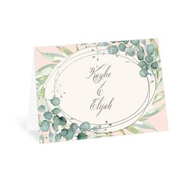 Glimmering Greenery - Silver - Foil Thank You Card