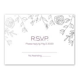 Wedding Response Cards: Sketched Botanical Foil Response Card