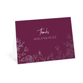 Gold: Sketched Botanical Foil Thank You Card