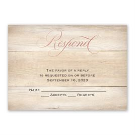 Our Happy - Rose Gold - Foil Response Card