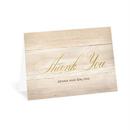 Our Happy - Gold - Foil Thank You Card