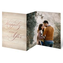 Our Happy - Rose Gold - Foil Trifold Invitation