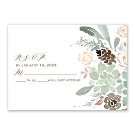 Winter in Bloom - Rose Gold  - Foil Response Card