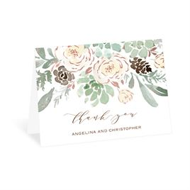 Winter in Bloom - Rose Gold - Foil Thank You Card