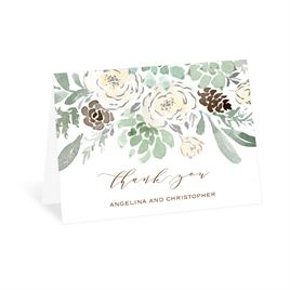Winter in Bloom - Silver - Foil Thank You Card