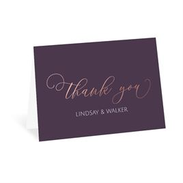 Ever After - Rose Gold - Foil Thank You Card