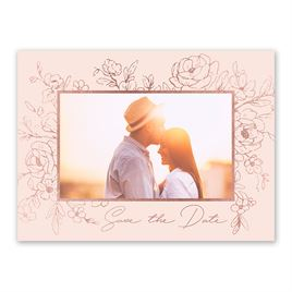 Shine in Floral - Rose Gold - Foil Save the Date Card