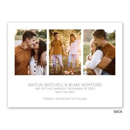 Love and Laughter - Gold - Foil Save the Date Card