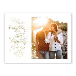 Love and Laughter Foil Save the Date Card
