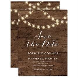 Save The Dates: String of Lights Save the Date Card