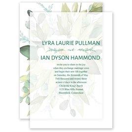 Breathless Layered Vellum Wedding Invitation