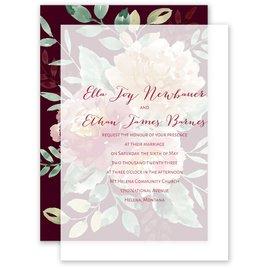 Splendid Blossom - Layered Vellum Invitation