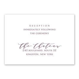 Photo Perfect - Reception Card