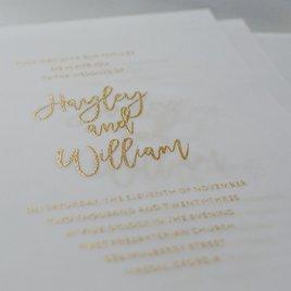 Allure - Vellum Invitation