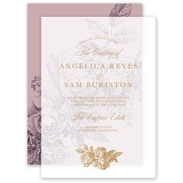 Vintage Rose Layered Vellum Invitation