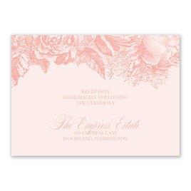 Vintage Rose - Pastel Coral - Reception Card