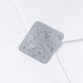 Wedding Envelope Seals: Silver Filigree Seal